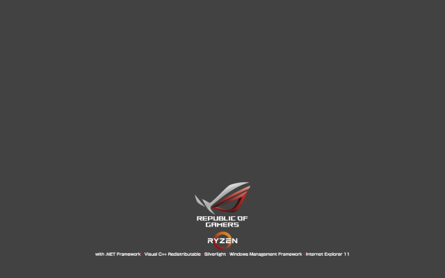 Logon Screen Red ROG RYZEN