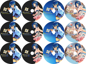 窓辺ななみ Window 7 SP1 DVD Label